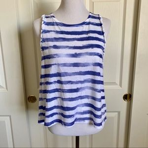 Modern Lux Painted Stripe Tank Top Large